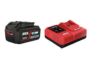 "SKIL 3111 AA Akku (""20V Max"" (18 V) 4,0 Ah ""Keep Cool""-Lithium-Ionen-Akku) und ""Rapid""-Schnellladegerät"