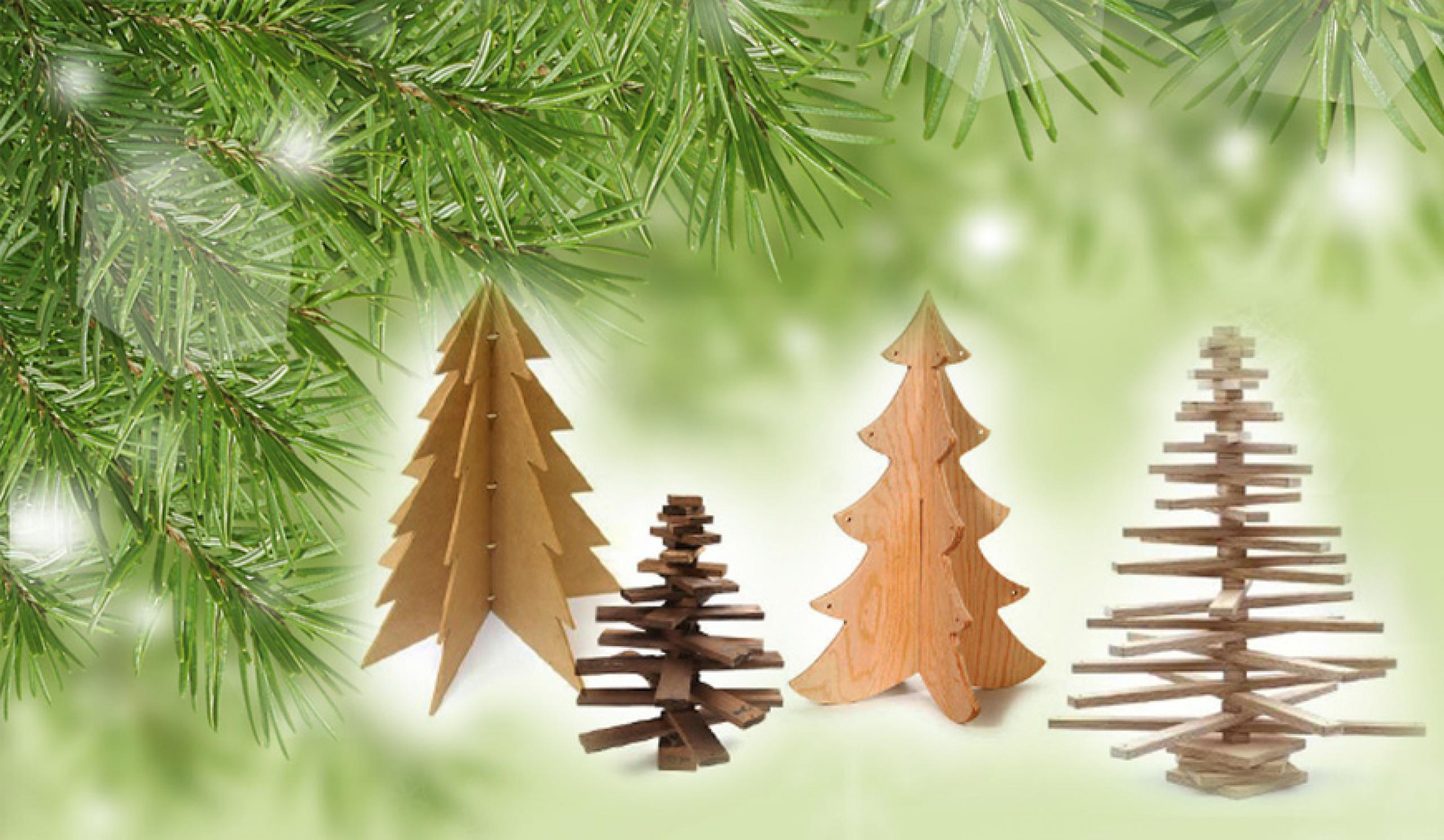 Réaliser un arbre de Noël en bois