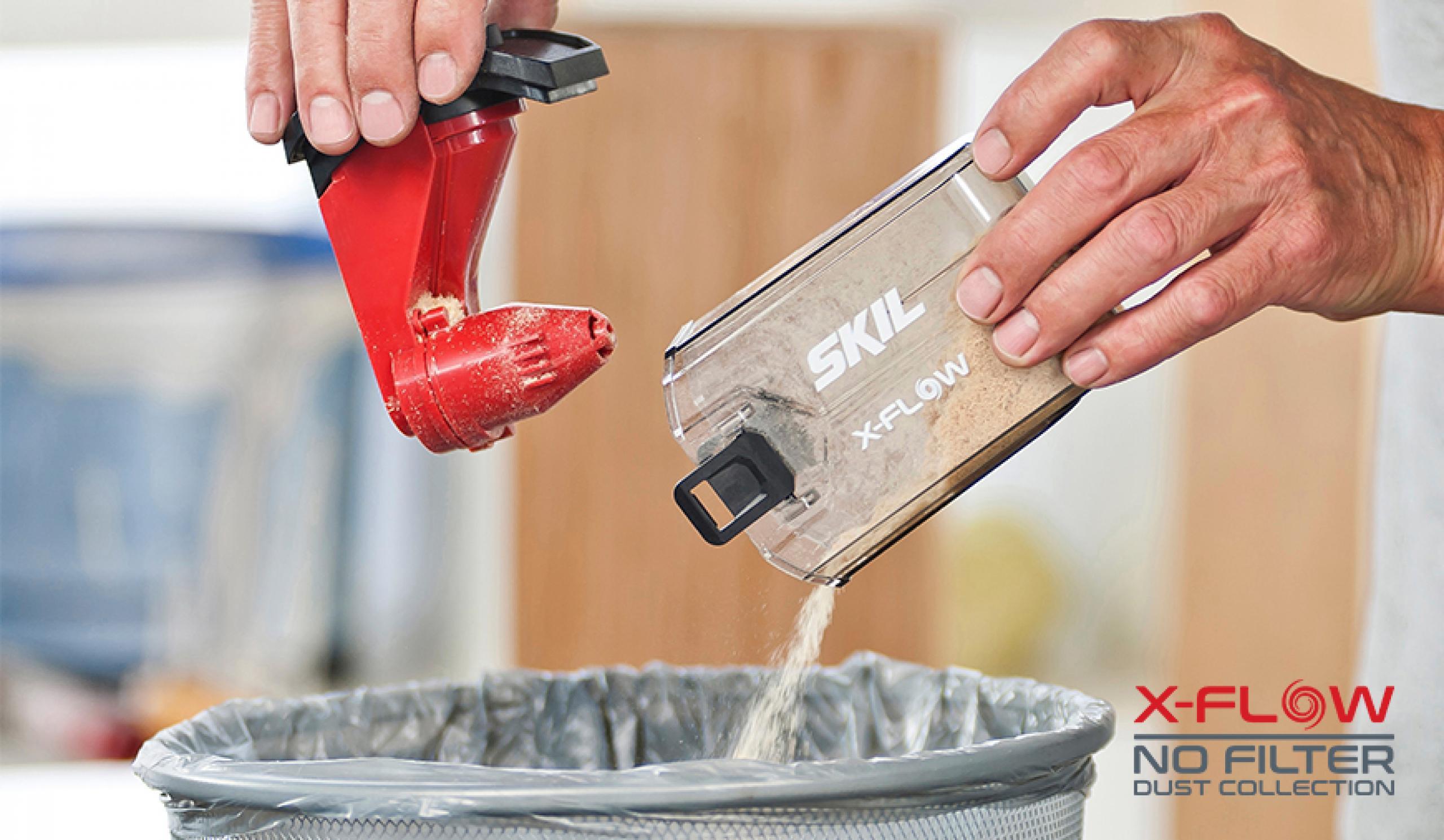 X-Flow è molto efficace nell'aspirazione di polvere senza causare ostruzioni