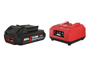 SKIL 3110 AA Batteria al litio ('20V Max' (18 V) 2,5 Ah 'Keep Cool') e caricatore